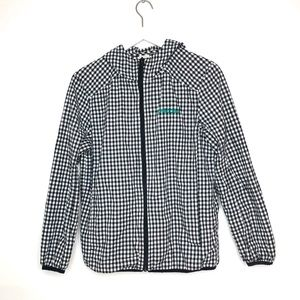 Adidas Neo Gingham and Teal Hooded Jacket